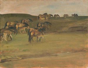 Alfred James Munnings - Exmoor Пони