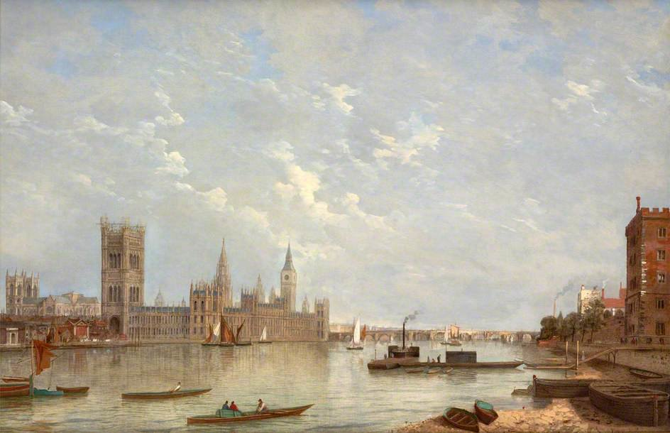 Вестминстерского по Henry Pether (1828-1865, United Kingdom)
