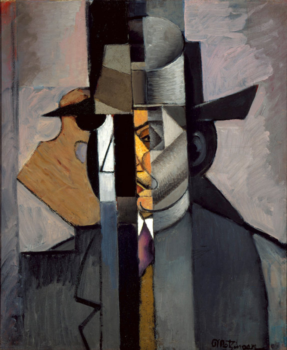 портрет Альберт Gleizes по Jean Dominique Antony Metzinger (1883-1956, France)