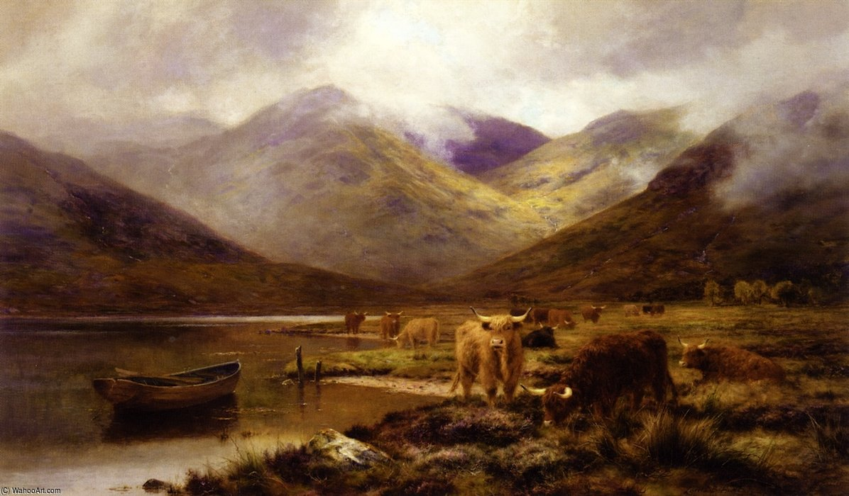 Долина в ardgour по Louis Bosworth Hurt (1856-1929, United Kingdom)