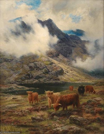 Грубо Пастбища , Skye Седло по Louis Bosworth Hurt (1856-1929, United Kingdom)