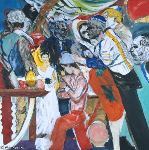 Свадьба по Ronald Brooks Kitaj (1932-2007, United States)