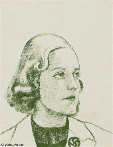 Единство Mitford по Ronald Brooks Kitaj (1932-2007, United States)