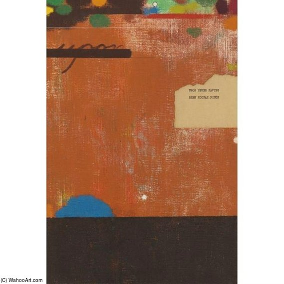 По Никогда увидев Koufax Pitch по Ronald Brooks Kitaj (1932-2007, United States)