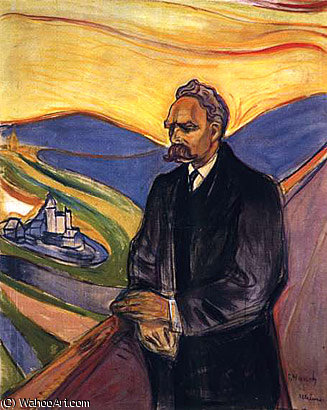 Фридрих Ницше по Edvard Munch (1863-1944, Sweden)