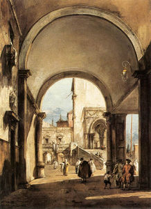 Francesco Lazzaro Guardi - Архитектурный каприз