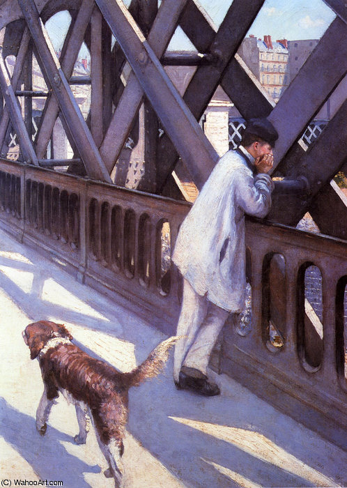 L Europe Le Pont по Gustave Caillebotte (1848-1894, France) | WahooArt.com