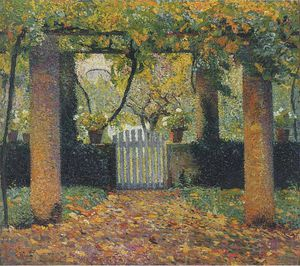Henri Jean Guillaume Martin - Порт-дю-данс Potager Tonnelle