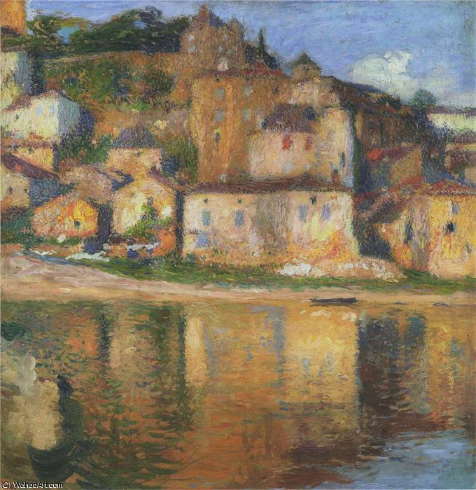 Вью де  пюи  л eveque  по Henri Jean Guillaume Martin (1860-1860, France)