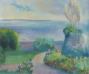 Henri Lebasque - Пейзаж в Префай