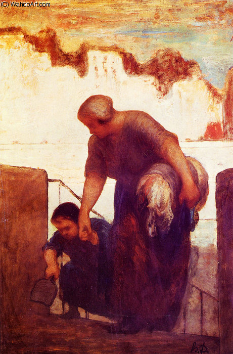 прачка по Honoré Daumier (1808-1879, France)