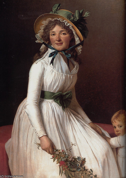 Получить Репродукции Музея : Портрет emilie serizait и ее сын по Jacques Louis David (1748-1800, France) | WahooArt.com