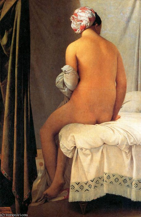 Baigneuse де Valpin_on Солнце по Jean Auguste Dominique Ingres (1780-1867, France)