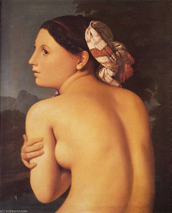 Половина фигура Купальщица по Jean Auguste Dominique Ingres (1780-1867, France)