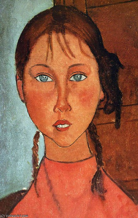 без названия 7844   по Amedeo Modigliani (1884-1920, Italy)
