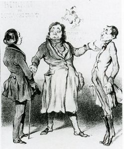 Honoré Daumier - Роберт Макэр Бюро де remplacements Militaires lithographie, Роберт Макэр бюро военных заменители литографий