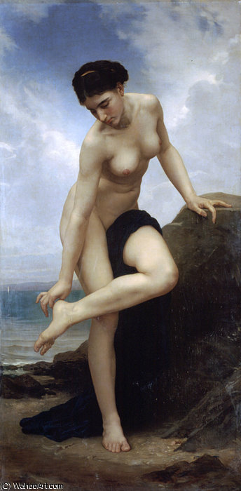 Apres Le Bain, 1875 по William Adolphe Bouguereau (1825-1905, France)