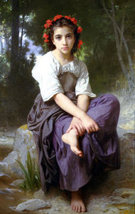 William Adolphe Bouguereau - Au бортовой дю Ruisseau