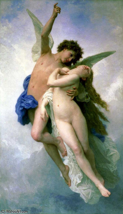 Психея и др lamour по William Adolphe Bouguereau (1825-1905, France)