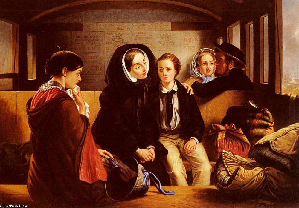 SECOND_CLASS THE_PARTING по Abraham Solomon (1823-1862, United Kingdom) | WahooArt.com