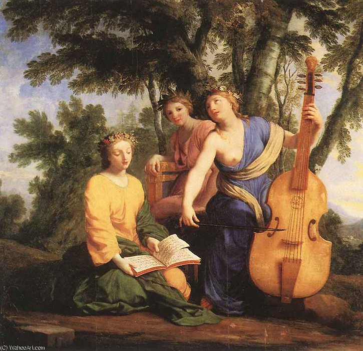 Музы Мельпомена Эрато и Polymnia по Brother Lesueur (Eustache Le Sueur) (1616-1655, France)