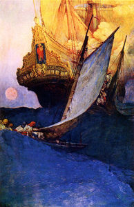 Howard Pyle - Атака на Galleon