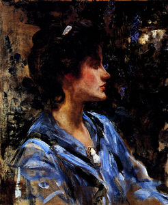 James Jebusa Shannon - барышня в  синий
