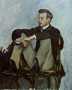Jean Frederic Bazille - Портрет Pierre-Auguste Ренуар , Масло canv