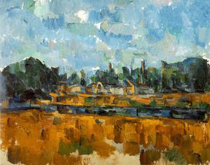 Paul Cezanne - Bords d'une ривьер , 1904-05 , частный , швейцария . ventur