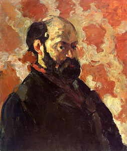 Paul Cezanne - Self-portrait на роза фон , galerie