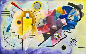 Wassily Kandinsky - Yellow-Red-Blue , масло по холсту , Музей Нация