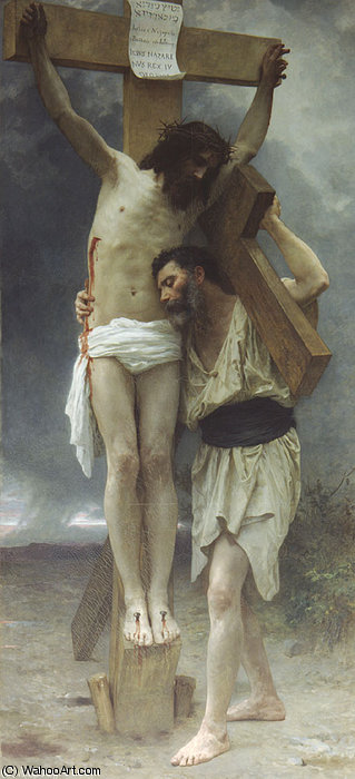 Сострадание ! по William Adolphe Bouguereau (1825-1905, France)