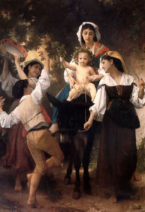 William Adolphe Bouguereau - Осел поездка