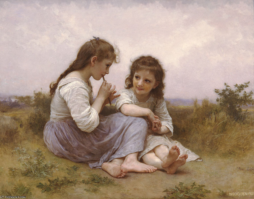 Idylle enfantine по William Adolphe Bouguereau (1825-1905, France)