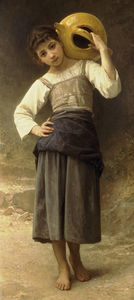 William Adolphe Bouguereau - Жен Дочь Allant а-ля Фонтен