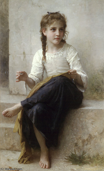 Ла кутюрье  по William Adolphe Bouguereau (1825-1905, France)