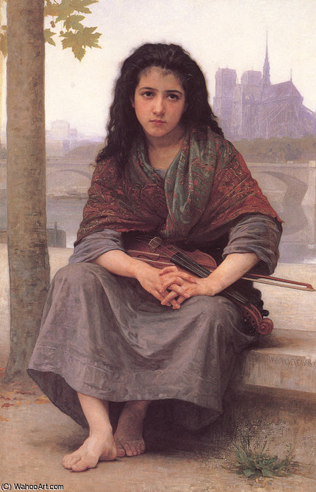 Ле bohemienne по William Adolphe Bouguereau (1825-1905, France)
