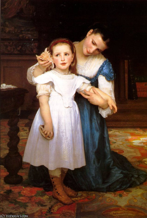 Раковины по William Adolphe Bouguereau (1825-1905, France)