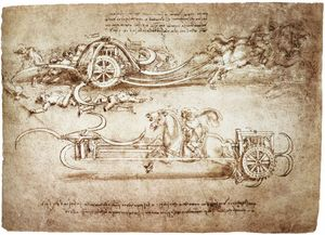 Leonardo Da Vinci - engineering-Assault колесница с кос