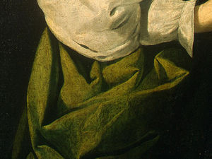 Francisco Zurbaran - санкт-люси , detlalj 5 , с . НГ Вашингтон