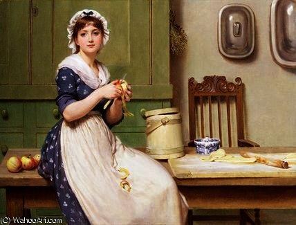 Яблоко пельмени  по George Dunlop Leslie (1835-1921, United Kingdom)