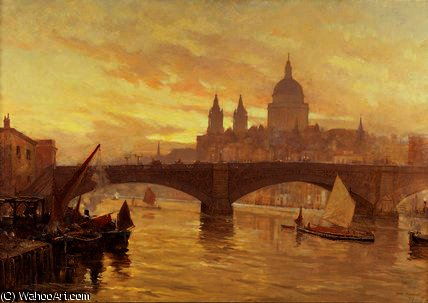 Саутварк Мост  по Herbert Menzies Marshall (1841-1913, United Kingdom)