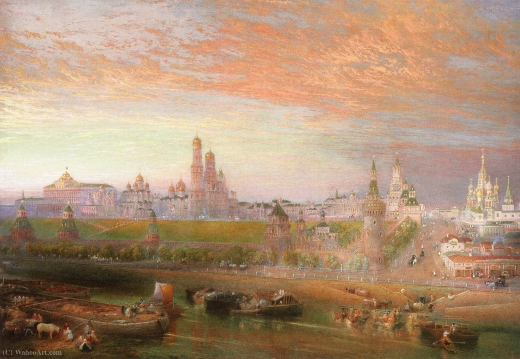 Москва, Кремль по John Cooke Bourne (1814-1896, United Kingdom)