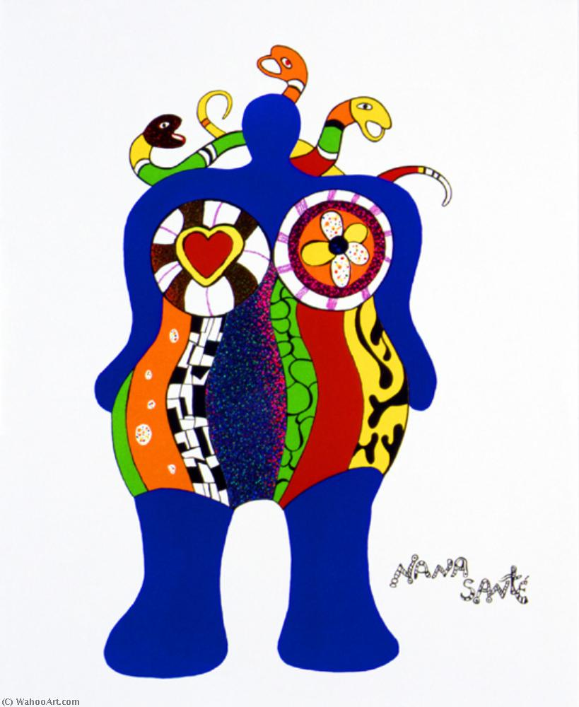 Нана santé по Niki De Saint Phalle (1930-2002, France)