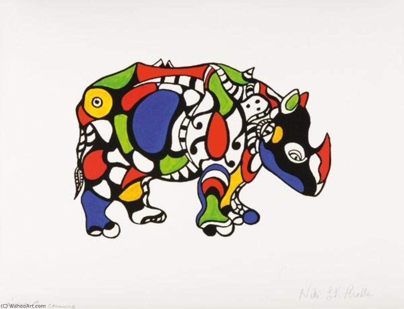 Носорог по Niki De Saint Phalle (1930-2002, France)