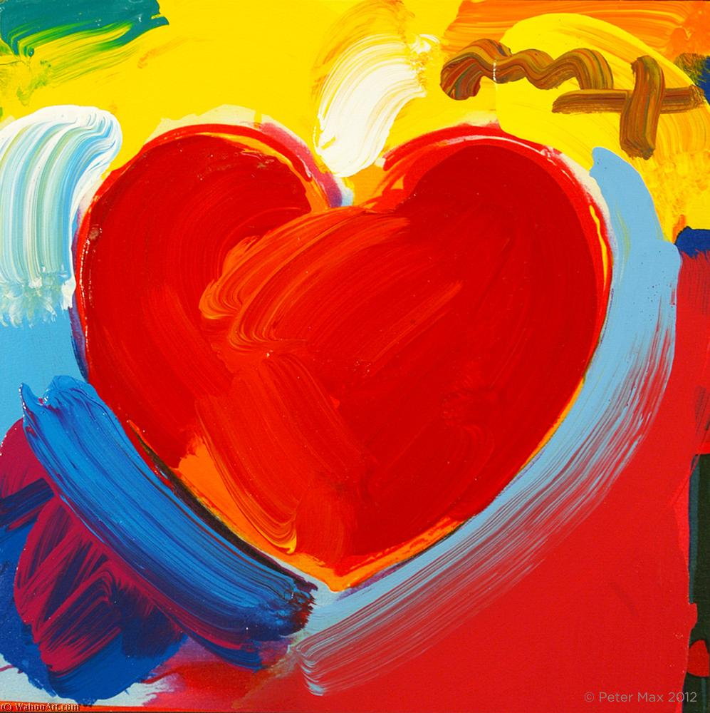 Сердце по Peter Max (1937-2004, Germany) | WahooArt.com