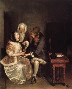 Gerard Ter Borch The Younger - Бокал лимонада
