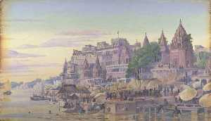 Marianne North - 'Benares . Индия . Октябрь 23d 1878'