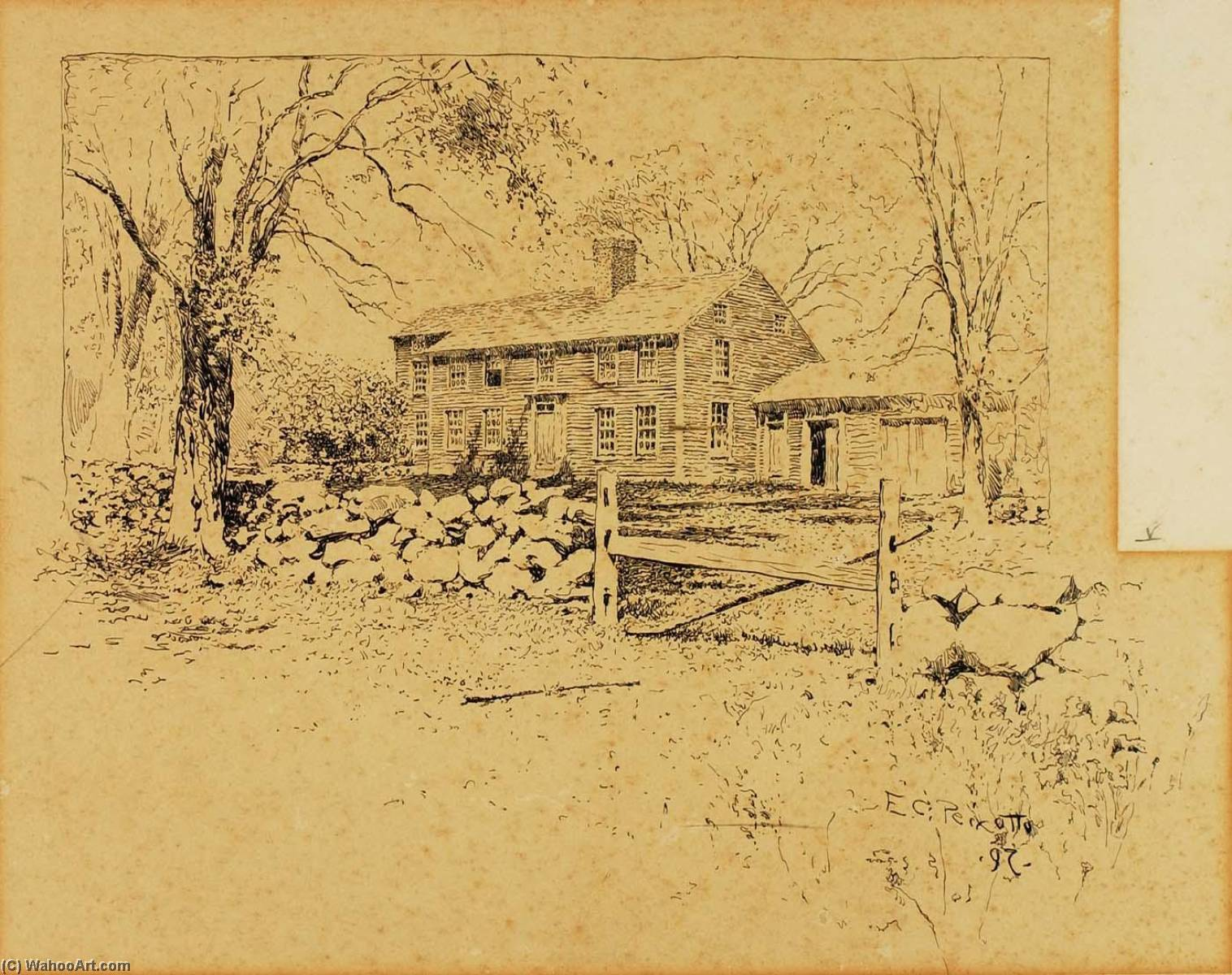 дача, Чернила по Ernest Clifford Peixotto (1869-1940, United States)