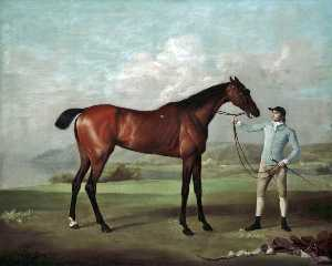 George Stubbs - -Molly Длинные Legs- с ней Жокей